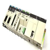 Omron C200HX-CPU85-Z PLC w/Master, Host Link, NC113, PA204, I/O Units + Base