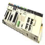 Omron C200HX-CPU85-Z PLC w/Master, Host Link, NC, Power Supply, I/O Units + Base