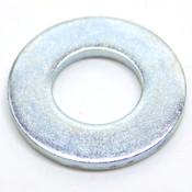 """(Box of 1300) SAE Gr2 Steel Flat Washers, 1/2"""" ID x 1"""" OD x 0.087"""" Thk, Zinc"""