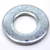 (Box of 2800) Steel Washers, Size M10; 10.6mm ID x 20.6mm OD x 1.85mm, Zinc