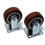 "(Lot of 2) NEW SCC 5"" x 2"" Straight Polyurethane Caster Wheels 600lb. Capacity"