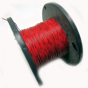 18AWG Red Hook Up Wire / Black Stripe 300V Electrical