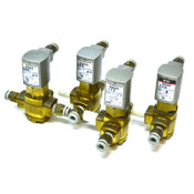 (Lot of 4) SMC VXA3124 Direct Air Operated 3-Port Valve for Air, Water, Oil, Gas