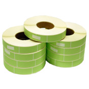 "Rolls of Green 1"" x 3"" 101317-3GR Direct Transfer Labels (9)"