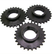 "NEW Lot of 3 IDC 60BTL26H 26 Tooth Sprocket 1.25"" Length Thru Bore 26 Teeth"