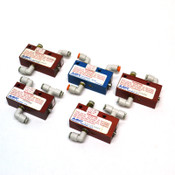 "(Lot of 5) Aladco 301201 1/8"" NPTF Nu-Check Pneumatic Valve (4) w/ -BSPP"