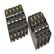 (9) Square D EDB14020 1-Pole 20A Thermal Magnetic Circuit Breakers 277VAC