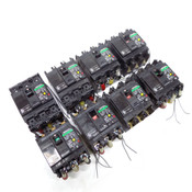 (Lot of 8) Fuji Electric SG33C-EB3ASC-030K 3-Pole 30A Circuit Breakers E.L.