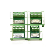 (Lot of 4) Phoenix Contact 45-D15SUB/B D 9SUB/S Terminal Block Interface Modules