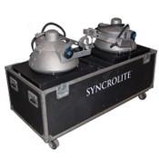 (Lot of 2) Syncrolite ArenaColor 2000W Metal Halide Stage Light System w/ Case
