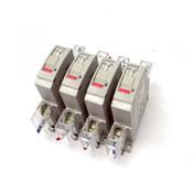 (Lot of 4) Fuji Electric CP31FM/2 1 Pole 2 Amp 250 Volt Circuit Breakers