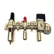 SMC NAV3000-N03-5DZ Soft Start Assembly w/ SMC NVHS3500-N03-X116 and AWM30-N03-Z
