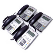 (Lot of 4) Avaya 1120E Business IP Desk Phones with Stands, Handsets and Cords