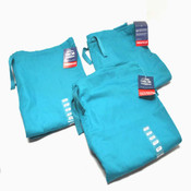 "(3) NEW Cherokee Workwear 4100S ""Short"" Teal Unisex Drawstring Scrub Pants XL"
