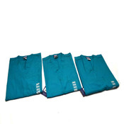 (3) NEW Cherokee Workwear 4777 TLBW Teal Unisex Fit XX-Small Scrub Shirts (XXS)
