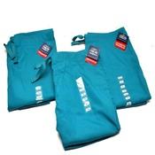 "(3) NEW Cherokee Workwear 4100 TLBW Teal Unisex Fit Medium Scrub Pants ""M"""