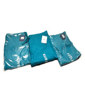 "(3) NEW Cherokee Workwear 4100S ""Short"" TLBW Teal Unisex Fit Medium Scrub Pants"