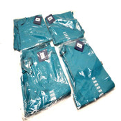 (4) NEW Cherokee Workwear 4100 TLBW Teal Unisex XX-Small Scrub Pants (XXS)