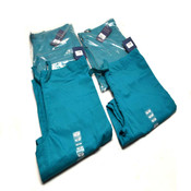 "(4) NEW Cherokee Workwear 4100S ""Short"" Teal Unisex Ex-Small Scrub Pants (XS)"