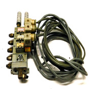 Numatics Manifold Block w/ (2) 031SA4154 and (1) 031SA4004000061 Solenoid Valves