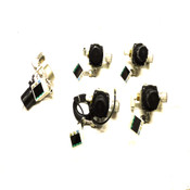 (Lot of 5) CKD PPX-R10NH-6M Digital Pressure Switches w/ SMC AR30-03H Valves