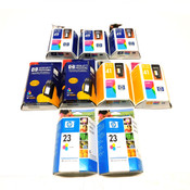 (9) NEW HP InkJet 41, 49, 23 Print Cartridges (4) 51641a, (3) 51649a, (2) C1823D