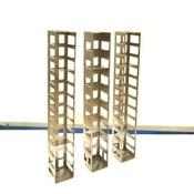 """(3) Cryogenic Stainless Steel Freezer Storage 2-Shelf Racks 26.75"""" x 5.5"""" x 5.5"""""""