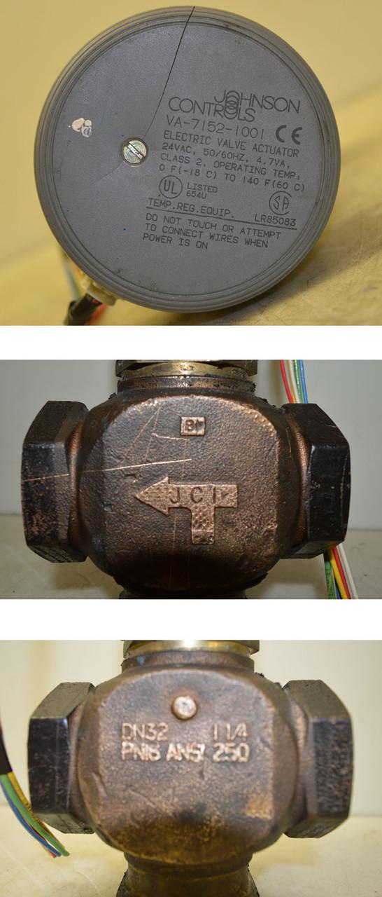 Johnson Controls VA-7152-1001 Electric 24VAC Valve Actuator 0F to 140F  Class:2