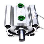 SMC US17403 CQ2 Double Acting Single Rod Cylinder w/ SMC D-A73 (2)