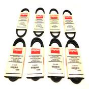 (Lot of 8) NEW Dayton Premium Wrapped V Belts (4) 4L230 and (4) 4L430 Models