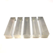 (5) Ateco 4922 Terrine Pate Mold Rectangular/Cone Shaped Bottom, Stainless Steel