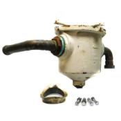 """Josam 61074 4"""" Industrial Top Access In-Line Type Cast Iron Solids Interceptor"""
