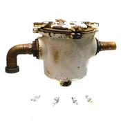 """Josam 61074 Industrial 4"""" Top Access In-Line Type Cast Iron Solids Interceptor"""