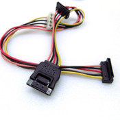 (Lot of 19) 4-Pin Molex Female to 3x 15-Pin Serial SATA Power Cable Adapter 45cm