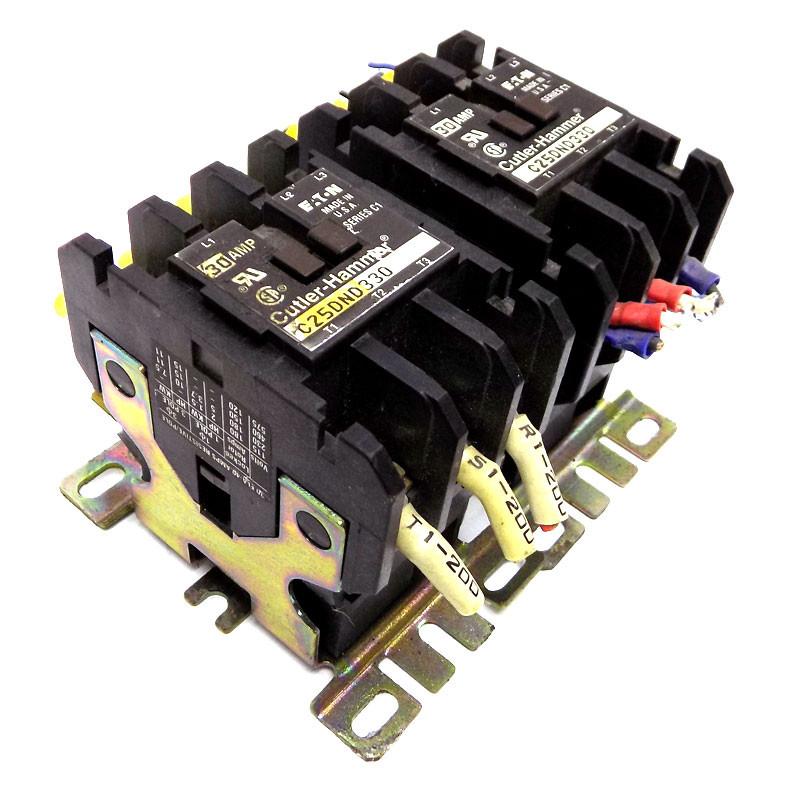 30 Amp • 3 Pole • 24V Coil C25DND330T Eaton Cutler Hammer Contactor
