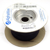 (885 Feet) AlphaWire 6712 Black 24 AWG 600 Volt Internal PTFE Wire