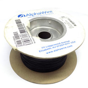 (1000 Feet) NEW AlphaWire 6712 Black 24 AWG 600 Volt Internal MPPE Wire