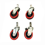 "Jarvis 34 Series 4""x 1.25"" Ball Bearing Swivel Casters (4)"