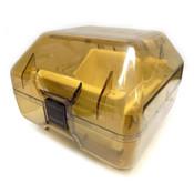 Empak H4200-02 Tinted 200mm 25-wafer Capacity Push-Lock Handles Wafer Carrier