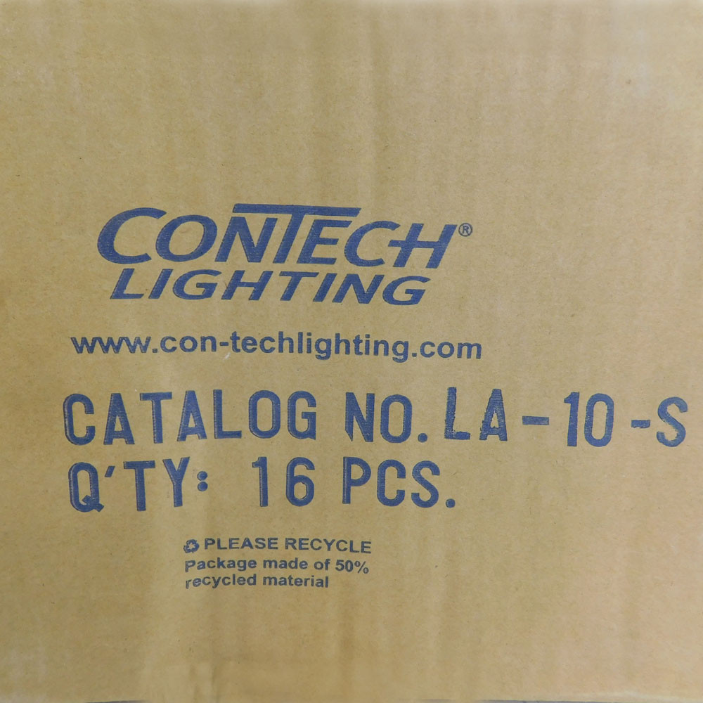 Lot of 16 new con tech la 10 s track lighting end feed top access silver