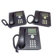Avaya 9608 8-Line LCD Display Business Desk Phones w/ Handsets (3)