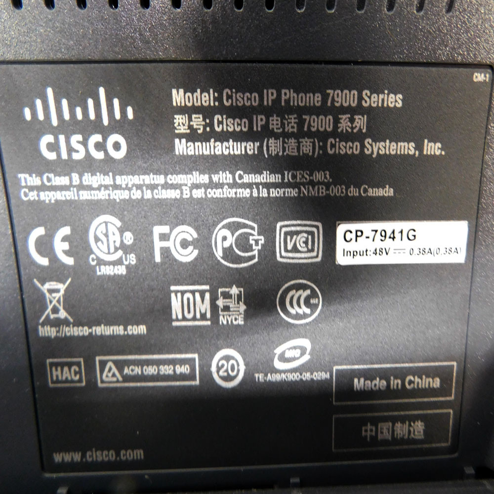 (Lot of 5) Cisco 7941 Unified Business Conference Telephone IEEE 802 3af  PoE 48V