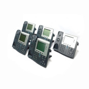 (Lot of 5) Cisco 7941 Unified Business Conference Telephone IEEE 802.3af PoE 48V