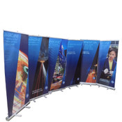 "(Lot of 6) Expox DI-RP8 Retractable Banner Stand 33"" x 78"" w/ Color HP Graphic"