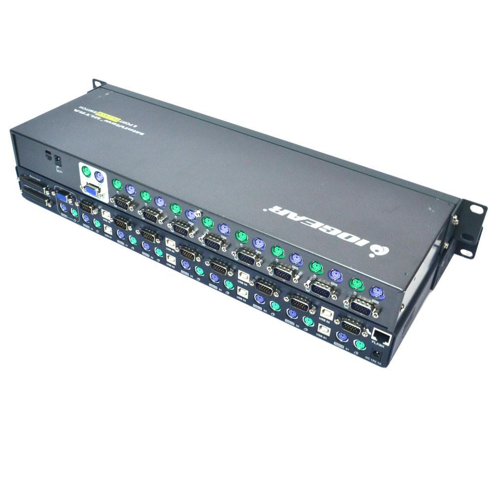 (1) Belkin F1DA108T OmniView PRO2 (1) Iogear GCS138 MiniView Ultra KVM  Switch