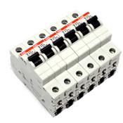 ABB S201 K6A/K10A BG14048.2 50Hz 1-Pole Miniature Circuit Breakers (6)