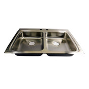 NEW Elkay Lustertone Double Bowl Kitchen Sink 33 Inch Top Mount 2 Hole