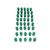 Fisher Scientific #5 Green Solid Rubber Laboratory Stoppers (40)
