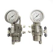 (Lot of 2) Bellofram T51 960-242-000 SS Regulator w/ Air Pressure Gauge