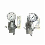 (Lot of 2) Bellofram T51 960-242-000 SS Regulator w/ PSI and LPM Gauges